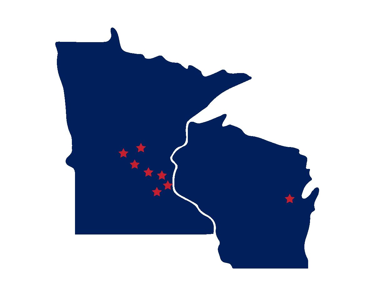 Minnesota and Wisconsin Map - Breitenfeldt Group